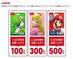 ニンテンドー プリペイド カード 1000 円 コンビニ